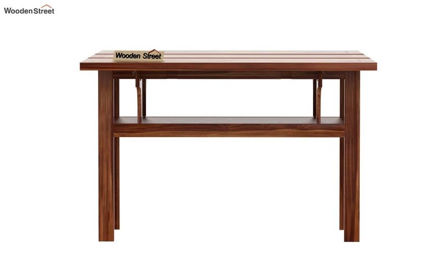Feller Foldable Dining Table (Teak Finish)-5