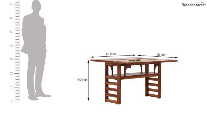 Feller Foldable Dining Table (Teak Finish)-8