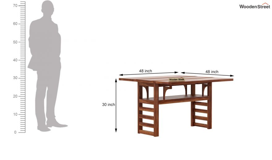 Feller Foldable Dining Table (Teak Finish)-8