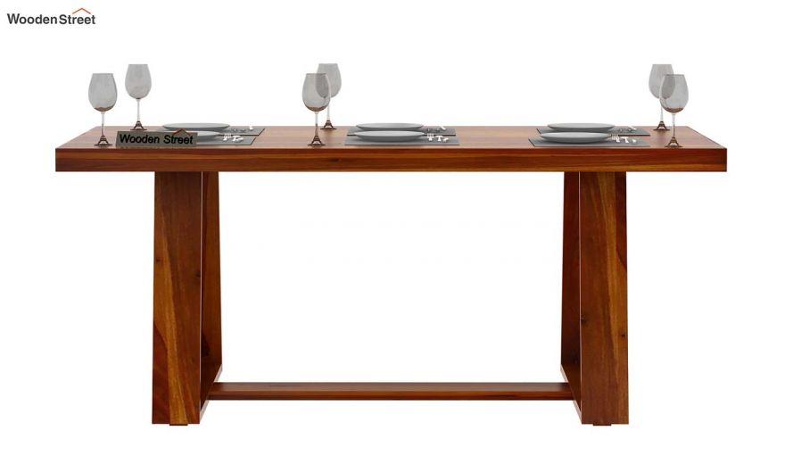 Garson 6 Seater Dining Table (Honey Finish)-3