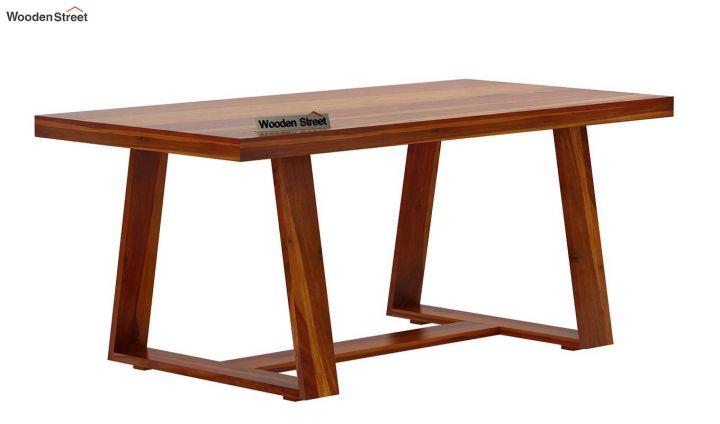 Garson 6 Seater Dining Table (Honey Finish)-4