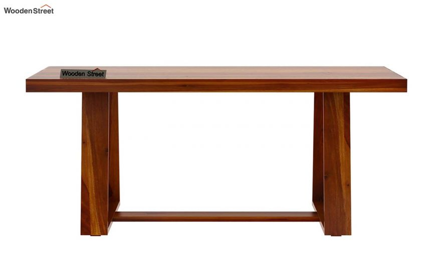 Garson 6 Seater Dining Table (Honey Finish)-5