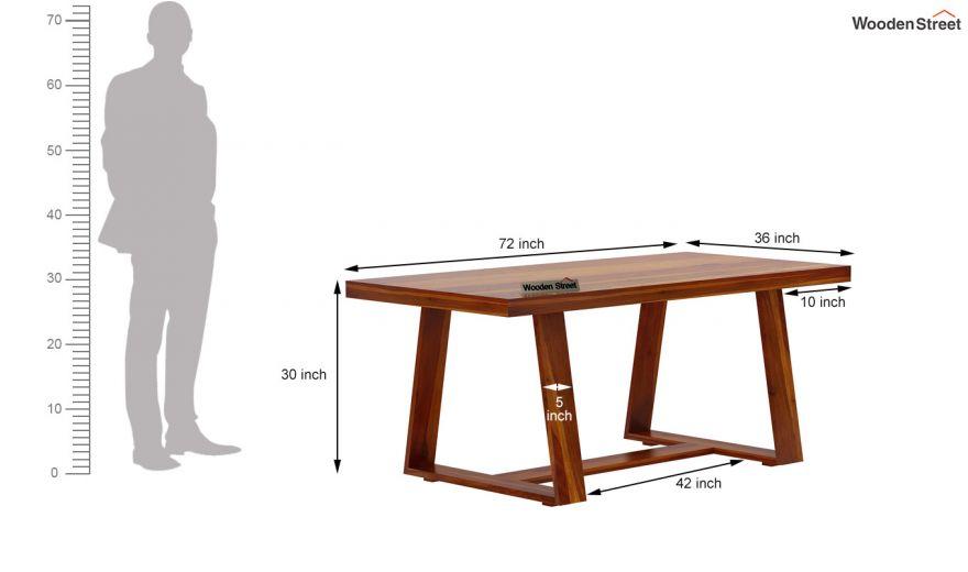 Garson 6 Seater Dining Table (Honey Finish)-6