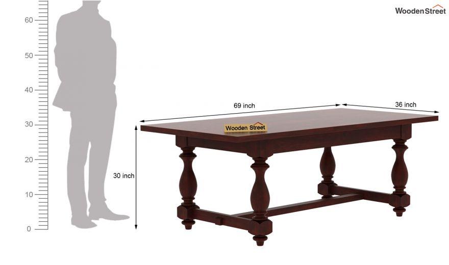 Gorsin Dining Table (Mahogany Finish)-6