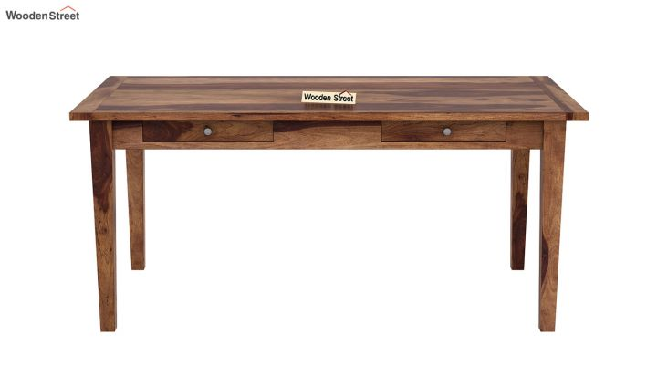 Mcbeth Dining Table With Storage (Teak Finish)-3