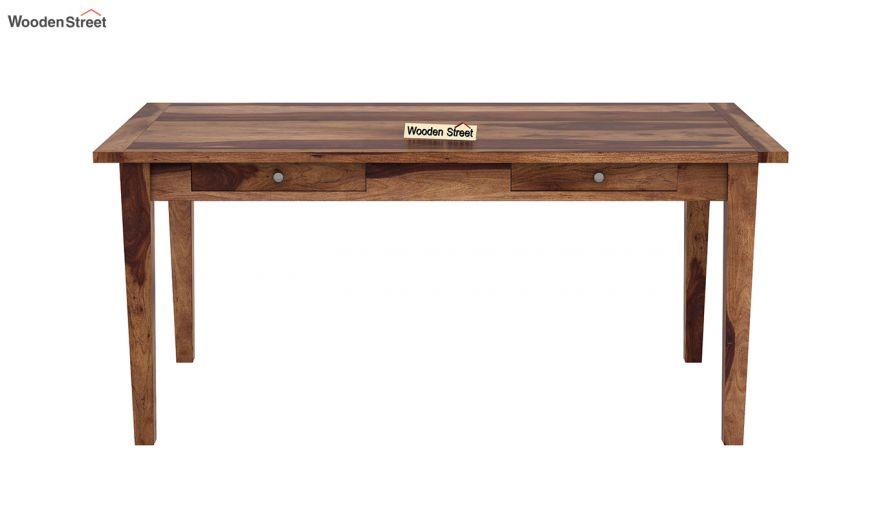 Mcbeth Dining Table With Storage (Teak Finish)-3
