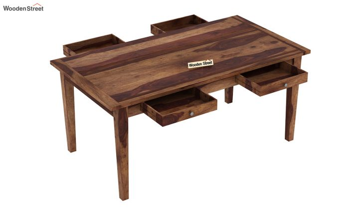 Mcbeth Dining Table With Storage (Teak Finish)-4