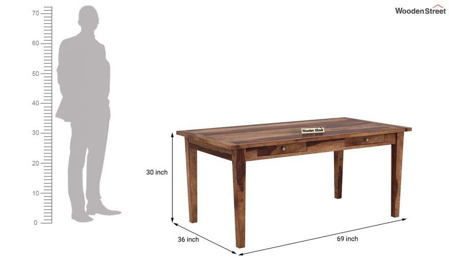 Mcbeth Dining Table With Storage (Teak Finish)-5