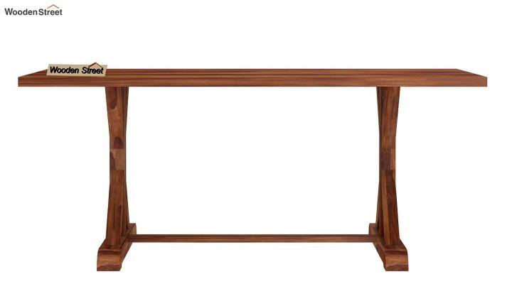 Mindy 6 Seater Dining Table (Teak Finish)-5