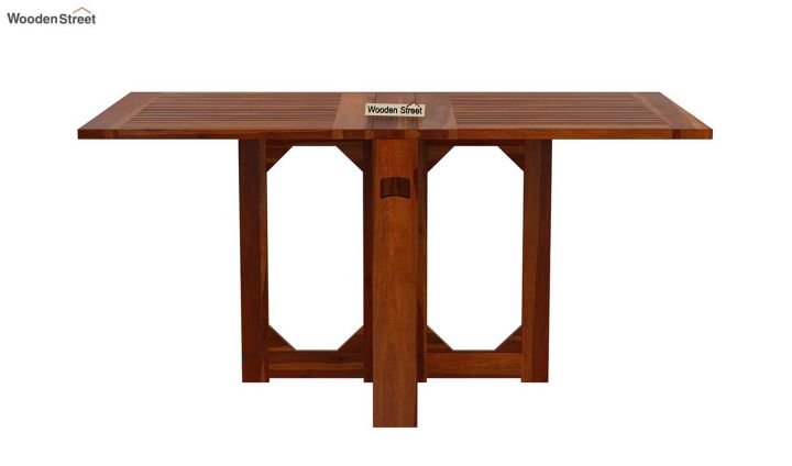 Paul Foldable Dining Table (Honey Finish)-4