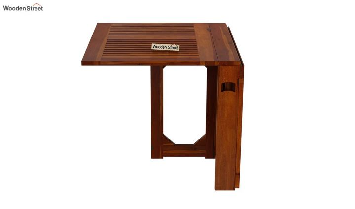 Paul Foldable Dining Table (Honey Finish)-6