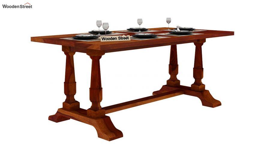 Redigo Dining Table (Honey Finish)-2