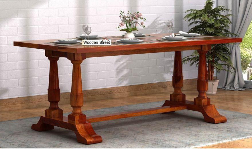Redigo Dining Table (Honey Finish)-1