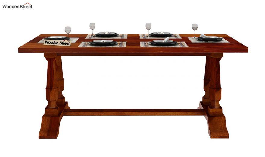 Redigo Dining Table (Honey Finish)-3