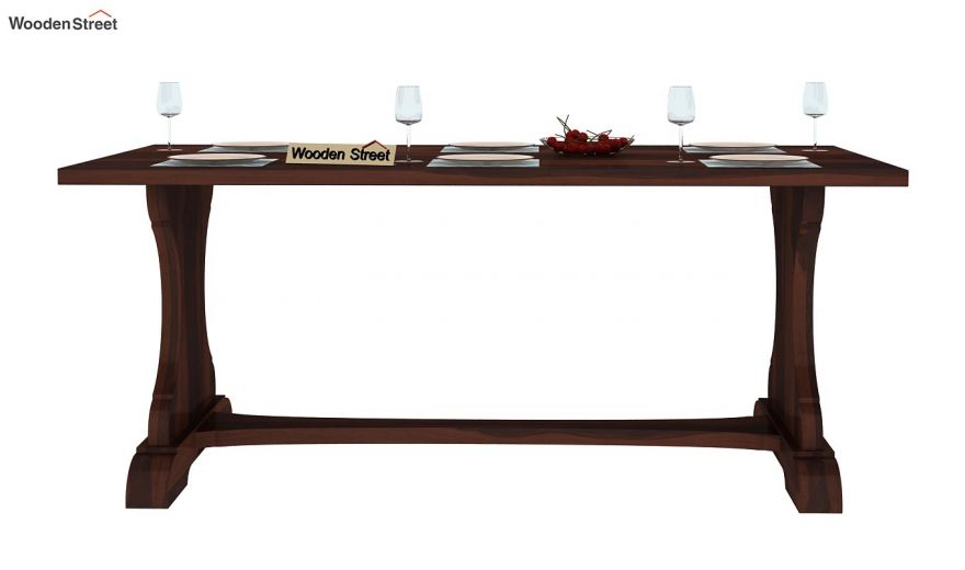 Ryder 6 Seater Dining Table (Walnut Finish)-3