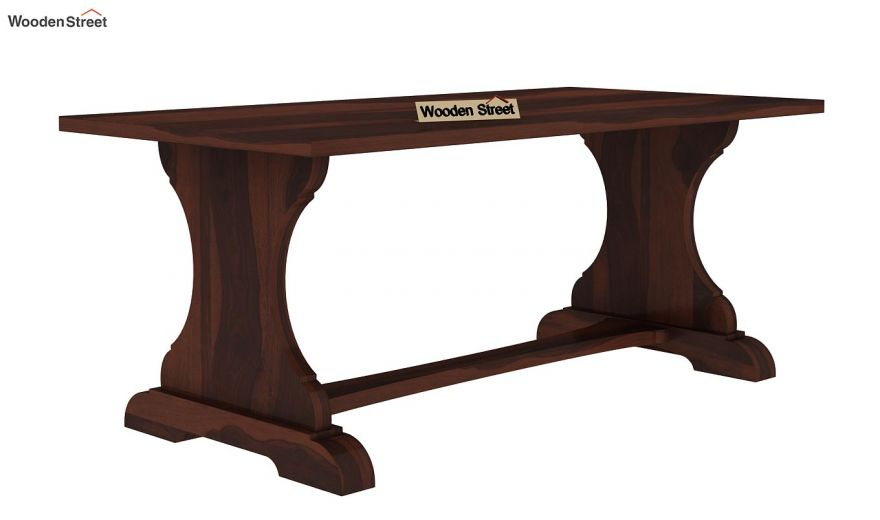 Ryder 6 Seater Dining Table (Walnut Finish)-4