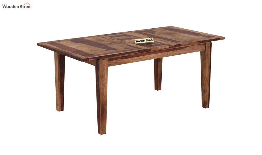 Tim Extendable Dining Table (Teak Finish)-2