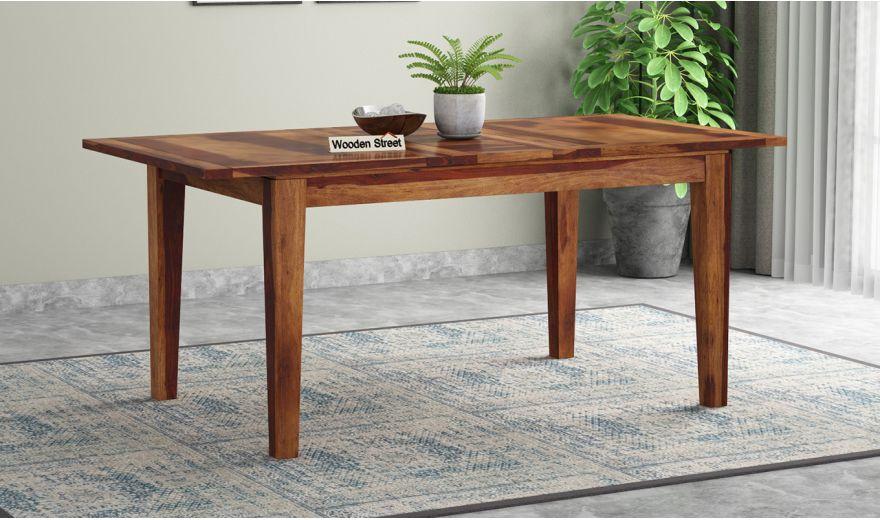 Tim Extendable Dining Table (Teak Finish)-1