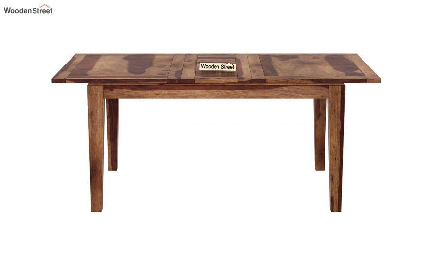 Tim Extendable Dining Table (Teak Finish)-3