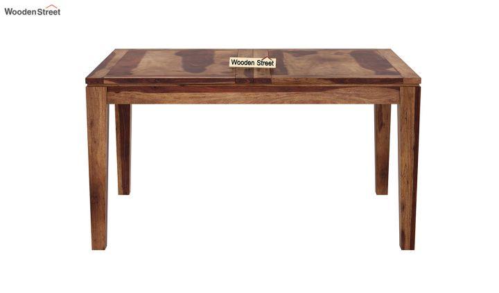 Tim Extendable Dining Table (Teak Finish)-5