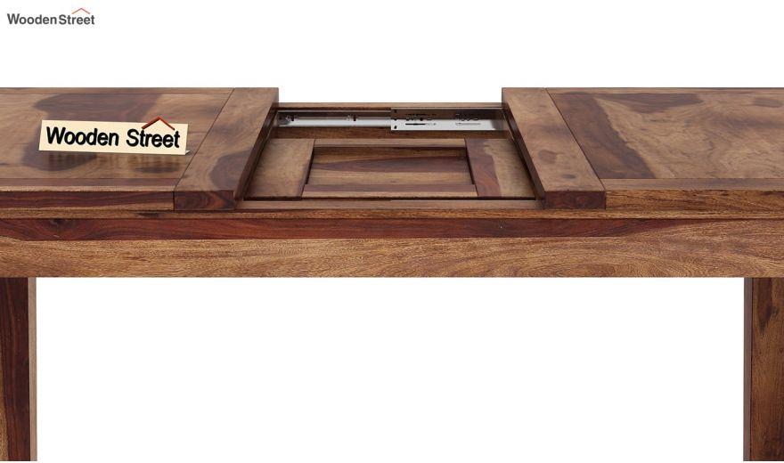 Tim Extendable Dining Table (Teak Finish)-6