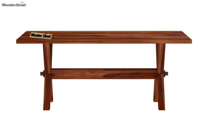 Waltz 6 Seater Dining Table (Teak Finish)-5
