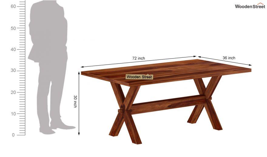 Waltz 6 Seater Dining Table (Teak Finish)-6