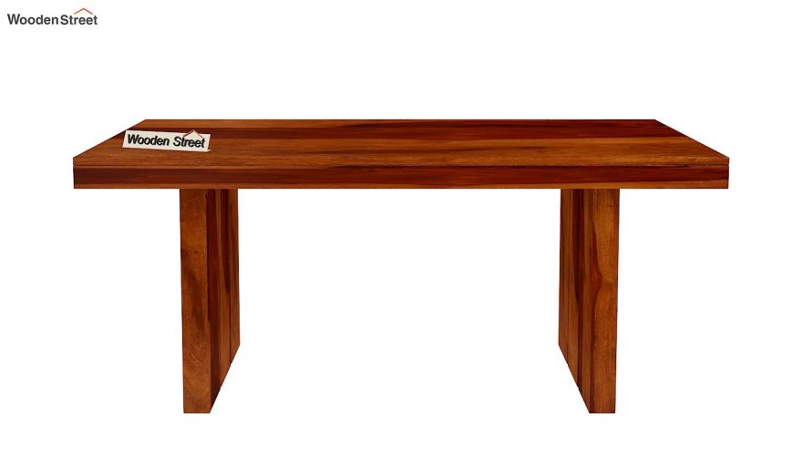 Wertex 6 Seater Dining Table (Honey Finish)-5