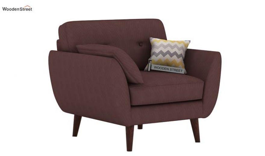 Angela 2 Seater Sofa (Fabric, Classic Brown)-3