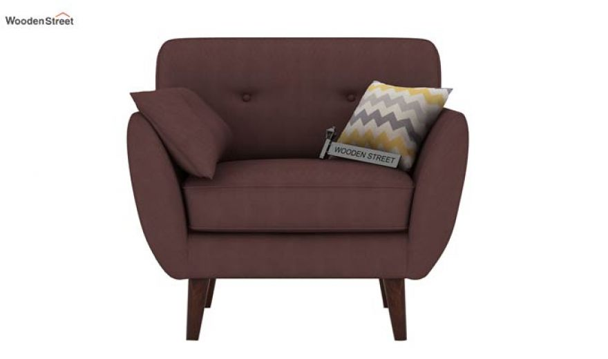 Angela 2 Seater Sofa (Fabric, Classic Brown)-4
