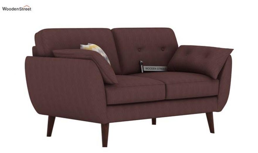 Angela 2 Seater Sofa (Fabric, Classic Brown)-1