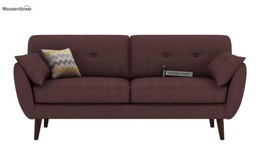 Angela 2 Seater Sofa (Fabric, Classic Brown)-6