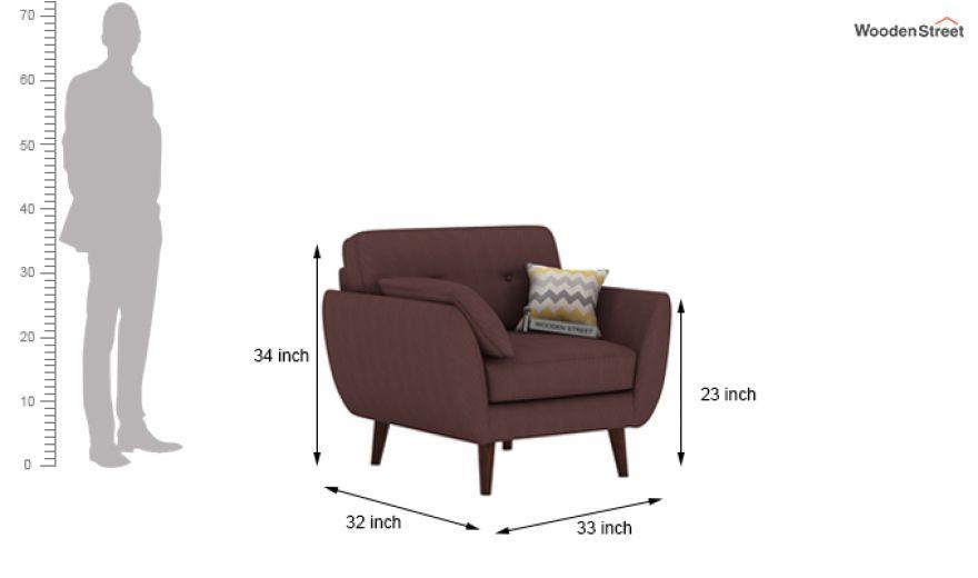 Angela 2 Seater Sofa (Fabric, Classic Brown)-7