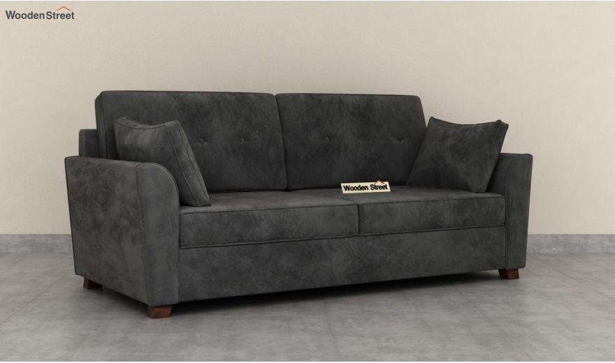 Archerd 3 Seater Sofa (Velvet, Graphite Grey)-4