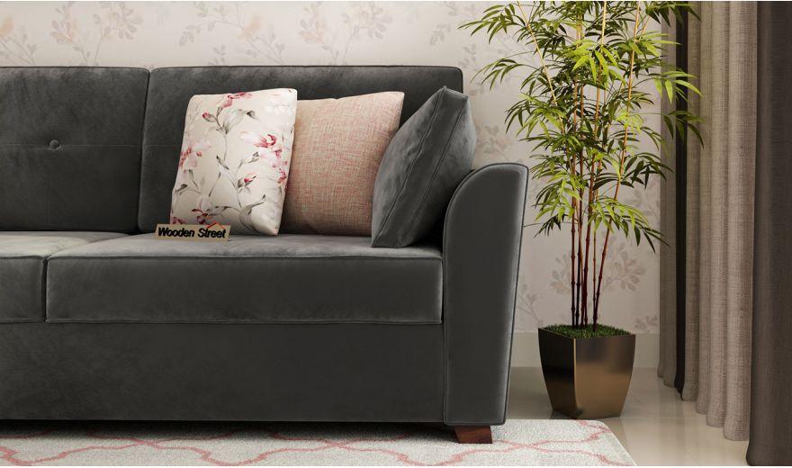 Archerd 3 Seater Sofa (Velvet, Graphite Grey)-3