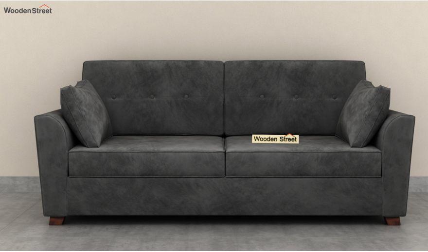 Archerd 3 Seater Sofa (Velvet, Graphite Grey)-5