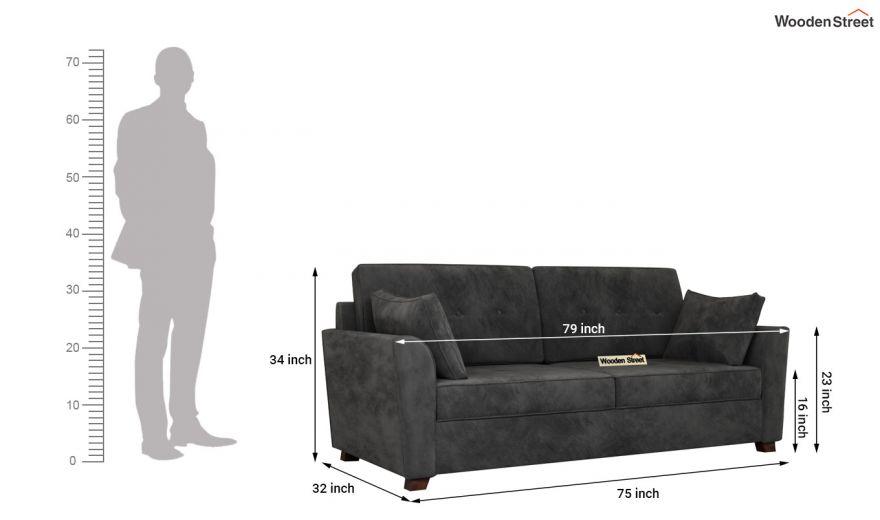Archerd 3 Seater Sofa (Velvet, Graphite Grey)-14