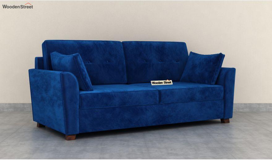 Archerd 3 Seater Sofa (Velvet, Indigo Blue)-4
