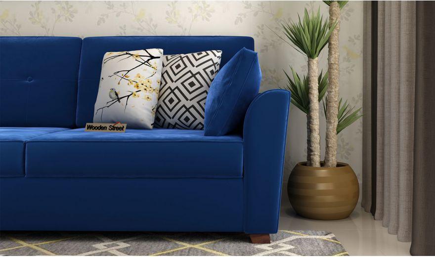 Archerd 3 Seater Sofa (Velvet, Indigo Blue)-3