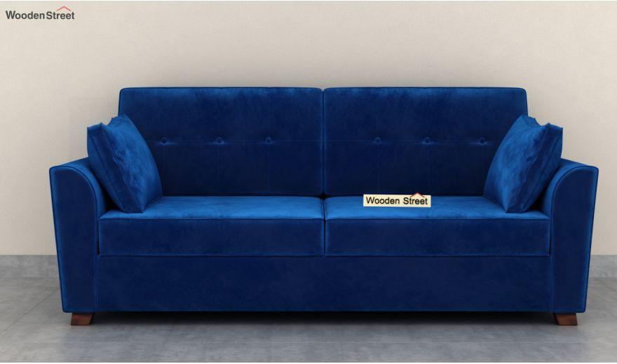 Archerd 3 Seater Sofa (Velvet, Indigo Blue)-5