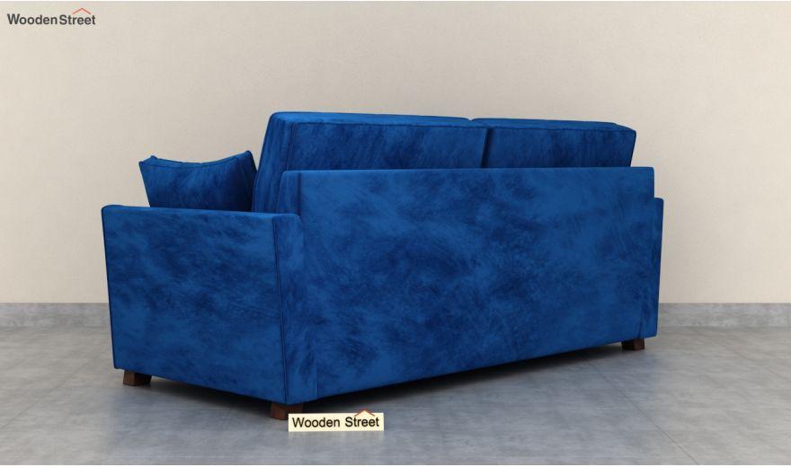 Archerd 3 Seater Sofa (Velvet, Indigo Blue)-6