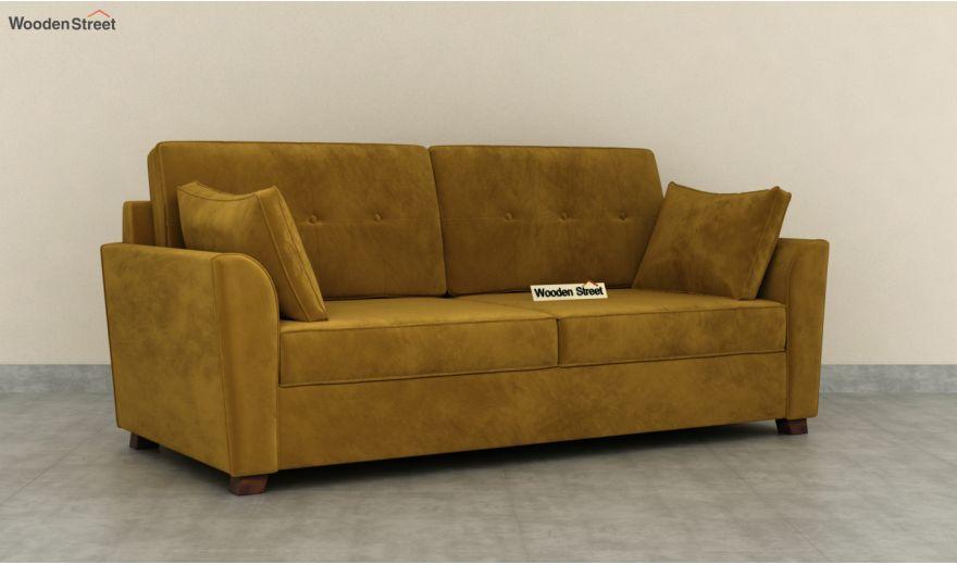 Archerd 3 Seater Sofa (Velvet, Chestnut Brown)-4