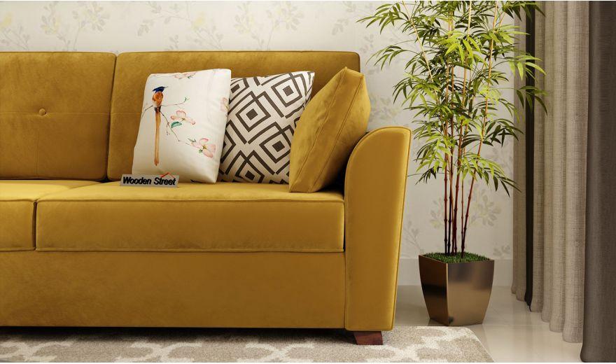 Archerd 3 Seater Sofa (Velvet, Chestnut Brown)-3