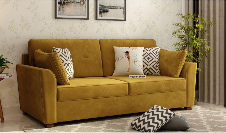 Archerd 3 Seater Sofa (Velvet, Chestnut Brown)-1
