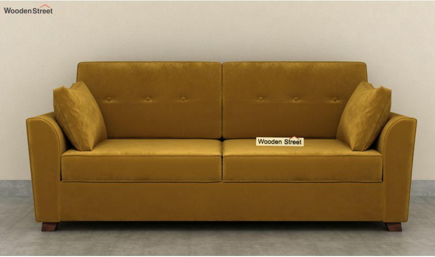 Archerd 3 Seater Sofa (Velvet, Chestnut Brown)-5
