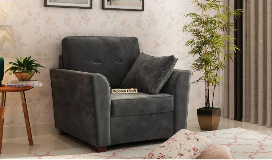 Archerd 3 Seater Sofa (Velvet, Graphite Grey)-7