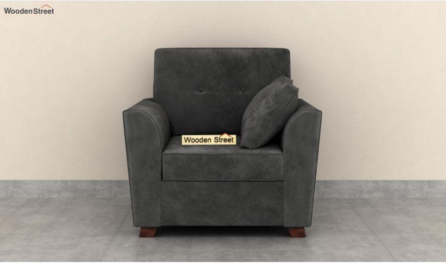 Archerd 3 Seater Sofa (Velvet, Graphite Grey)-8