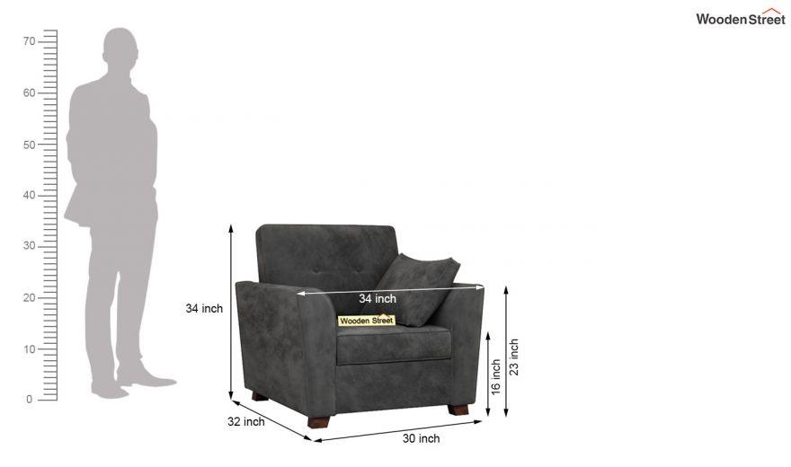 Archerd 3 Seater Sofa (Velvet, Graphite Grey)-12