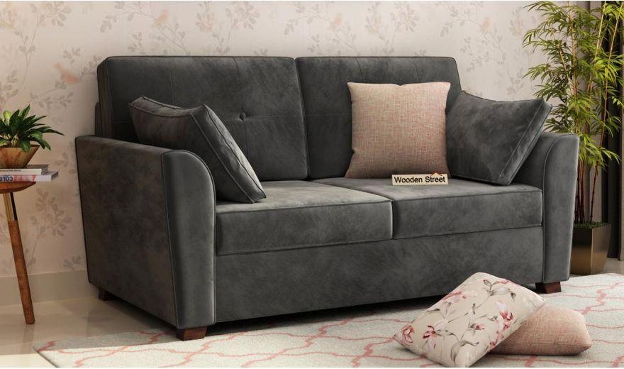Archerd 3 Seater Sofa (Velvet, Graphite Grey)-9
