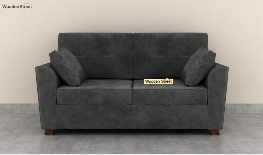Archerd 3 Seater Sofa (Velvet, Graphite Grey)-10